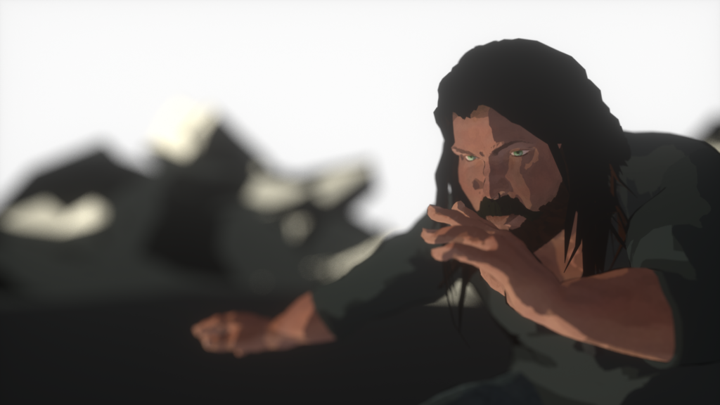 Animated drawing of man